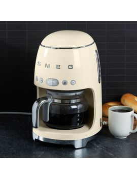 Smeg Black Drip Coffeemaker by Crate&Barrel