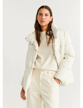 Globes Quilted Anorak by Mango