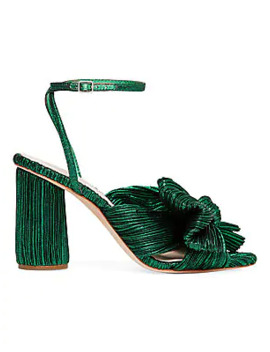 Camellia Knotted Metallic Lamé Sandals by Loeffler Randall