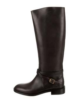 Leather Knee High Boots W/ Tags by Saint Laurent