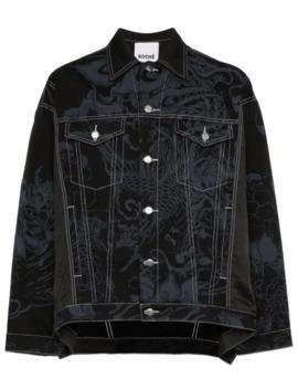 Phoenix Printed Denim Jacket by Koché