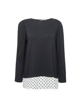 Black Spot Print Underlay 2 In 1 Top by Dorothy Perkins