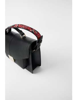 Embroidered City Bag by Zara
