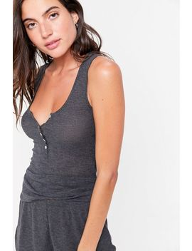 Out From Under Cozy Henley Tank Top by Out From Under