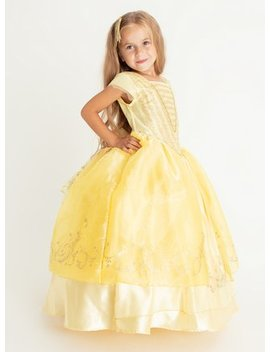 Disney Princess Belle Yellow Costume   3 4 Yearstuc130443820 by Argos
