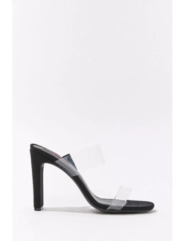 Translucent Open Toe Heels by Forever 21