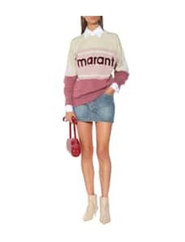 Gallian Logo Cotton Blend Sweatshirt by Isabel Marant, Étoile