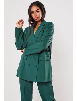 Teal Co Ord Masculine Oversized Blazer by Missguided