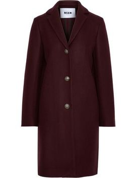 Wool Blend Coat by Msgm