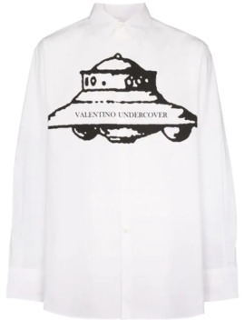 X Undercover Ufo Print Shirt by Valentino