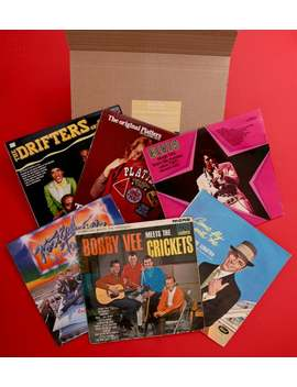 Hand Picked Mystery Vinyl Lp Gift Box   Hits From The 50s   Blues, Rock N' Roll, Country, Swing, Jazz by Etsy