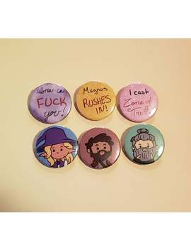 Taz: Tres Horney Boys Buttons by Etsy