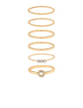 Ring Set Of 6 by Ettika