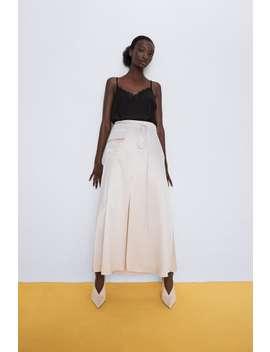Open Knit Lingerie Style Top by Zara