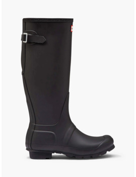 Hunter Women's Original Waterproof Tall Adjustable Wellington Boots, Black by Hunter