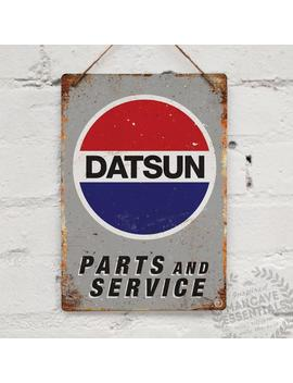 "Metal Replica Wall Sign \""Datsun Parts &Amp; Service\"". Mancave Decoration Bar Pub Jdm Vintage Garage Classic Car Restoration by Etsy"