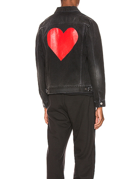 Pin My Heart Denim Jacket by Palm Angels