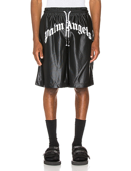 Logo Mesh Shorts by Palm Angels