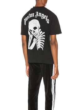 Thinking Skull Tee by Palm Angels