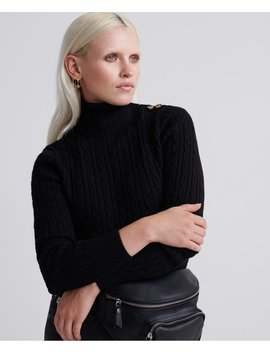 Croyde Cable Roll Neck by Superdry