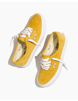 Vans® Unisex Authentic Lace Up Sneakers In Mango Suede by Madewell