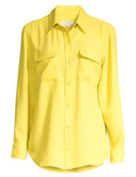 Signature Double Pocket Blouse by Equipment