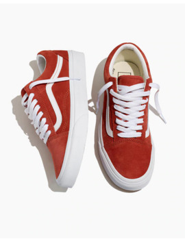 Vans® Unisex Old Skool Lace Up Sneakers In Burnt Brick Suede by Madewell