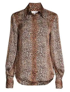 Didina Leopard Print Blouse by Equipment
