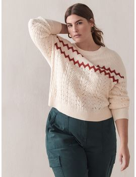 Shaker Stitch Cropped Sweater   Addition Elle Shaker Stitch Cropped Sweater   Addition Elle by Addition Elle