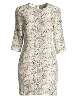 Aubrey Python Print Shift Dress by Equipment