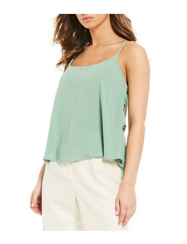 Side Button Tank Top by June &Amp; Hudson