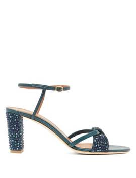 Tara Crystal Embellished Leather Sandals by Malone Souliers
