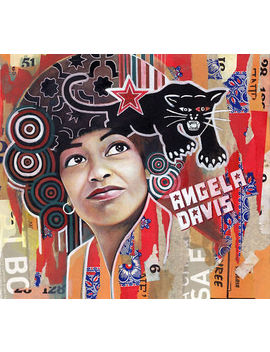Angela Davis Picture Painting by Ebay Seller