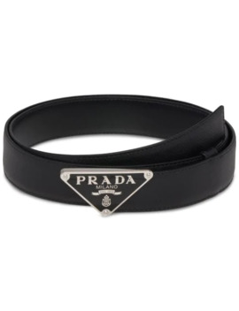 Triangle Logo Belt by Prada