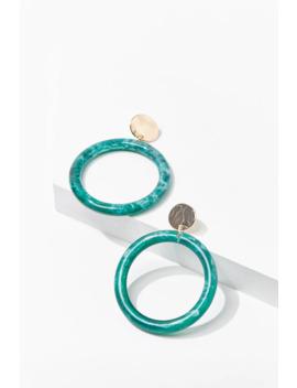 Marble Hoop Drop Earrings by Forever 21