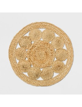 Medallion Woven Charger   Threshold™ by Threshold