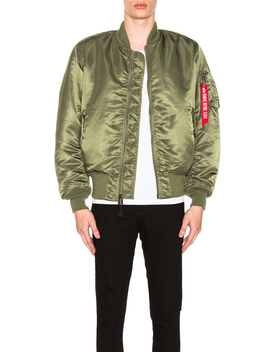 Ma 1 Blood Chit Bomber Jacket by Alpha Industries