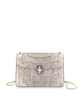 Mini Metallic Karung Serpenti Forever Cross Body Bag by Bvlgari