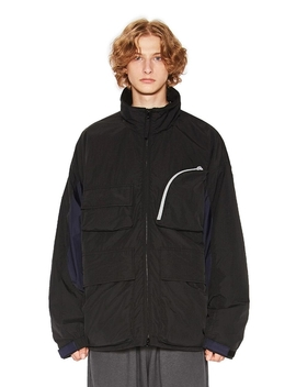 Utility Ski Parka Black by Liful Minimal Garments.