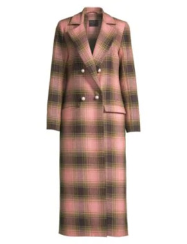 Mable Wool Plaid Coat by Mother Of Pearl