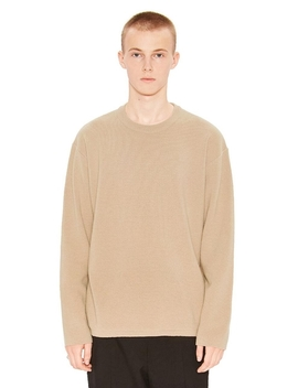 Cashmere Knit Sweater Beige by Liful Minimal Garments.