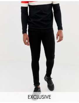 Collusion   X010   Superskinny Jeans In Zwart by Collusion
