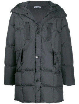 Padded Hooded Coat by Stone Island