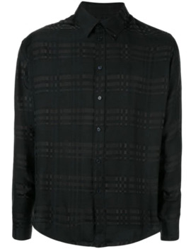 Tone On Tone Check Shirt by Martine Rose