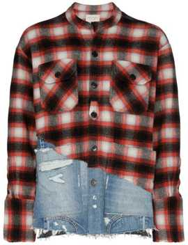 50/50 Plaid Denim Shirt by Greg Lauren