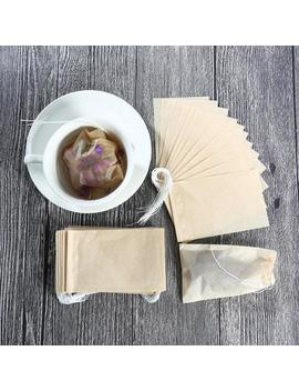 100 Empty Drawstring Tea Bags 3 Different Sizes Eco Friendly Paper Unbleached Teabags Parchment Wood Pulp Natural Cotton Herbs Flowers Teas by Etsy