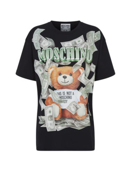 Teddy Bear Dollar Logo T Shirt by Moschino