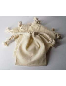 Four (4) 4 X 6 Natural Drawstring Muslin Bags by Etsy