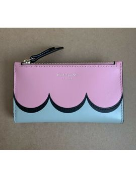 Authentic Kate Spade New York Intarsia Scallop Rococopk Slim Bifold Wallet New by Kate Spade