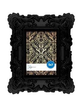 Mainstays 5x7 Chunky Baroque Picture Frame, Black by Mainstays
